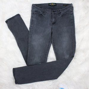 Lucky Brand Gray Wash Brooke Straight Mid Rise